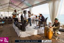 Evènement Plage Beau Rivage / Dans le but de remercier ses clients et ses partenaires pour leur fidélité qui à contribué au succès de la plage durant les huit dernières années, la plage Beau Rivage à organisé le vendredi 20 septembre 2013 la Full Moon Party.