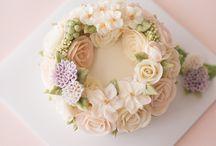 Flower butter cake