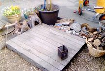 Outdoor play spaces / Ideas to turn your outside space into an outdoor classroom.
