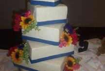 Wedding Cakes (offset/topsy turvy cakes)