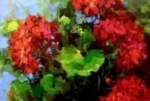 red geraniums so beautiful