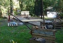 Śniadówko - Bar Koza of pallets / Budujemy z palet nasz nowy bar. Warto nas odwiedzić w letni weekend