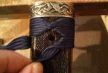 zdobenie rukoväte samurajskycj mecov