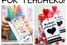 Teacher gift ideas / valentines, christmas, end of the year gift ideas
