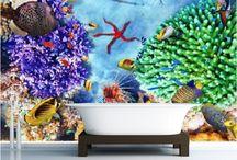 Bathroom Wall Mural & Wallpaper Decoration Ideas