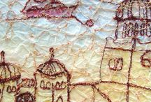 Anita Bell - Paper and stitch / Painted paper and free machine embroidery.  www.anitabellpaperworks.com