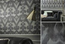 Patterns / Textile wallcoverings with larger scale patterns