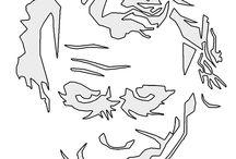 Joker stencil
