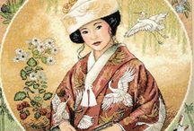 Cross stitch Oriental People 3