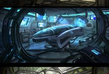 Lowpoly - SciFi Interior
