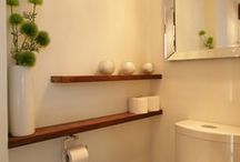 Toilet shelves decor