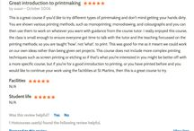 Hot Courses Printmaking Review
