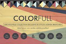 COLORFULL Pens / UNE NOUVELLE COLLECTION EXCLUSIVE DE STYLOS AGENDA BRANCHÉS!