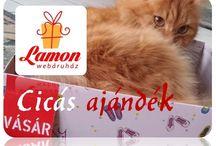 Cicás ajándékok / Cicás ajándékok Lamon http://www.ajandek.shop.hu/