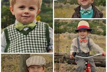 kids in old timey clothes