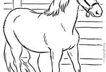 lovas színezők ,  lovas témák
