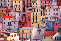 Cinque Terre  / Cinque Terre and Amalfi, If you love small towns with a strong sense of Italian history and hiking, I recommend Cinque Terre. If you perfer a more glamourous hotel where you can really relax and just enjoy being in Italy, Amalfi is for you. the first big difference between these destinations is that getting to Cinque Terre is simple, you just hop a train from almost anywhere in Italy or the South of France and you're there.                      / by Carla Del Ray