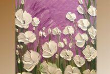 fiori in rilievo