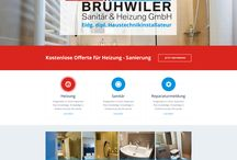 Brühwiler Sanitär und Heizung GmbH Webdesign / This is the design of website that we made for Swiss Company Brühwiler Sanitär und Heizung.