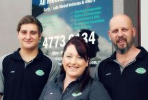 Our Staff / Owners:  Gregg Turnbull & Melanie Turnbull on right Left:  Apprentice Josh