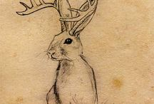 Jackalope tattoo