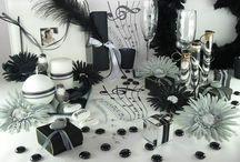 Déco de table noir & blanc / Une déco en noir et blanc peut être loin d'être synonyme d'austérité ! En effet, vérifiez : pour une table gaie, tout est dans le détail !