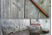 Forja / Creación de hachas, cuchillos y herramienta