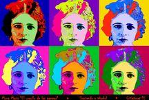POP ART / Afiches, dibujos e imágenes de creatividad espontanea.