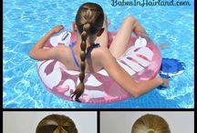 Swimming hairstyles
