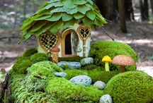 Miniature  Gardens / Terrariums-Fairy homes-Bonsai-Ikebana-Air plants-Bromeliads-Moss-Mushrooms-Fungi-Mold / by Carene Boykin