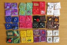Inchies - Cuadraditos de tela tipo muestrario