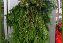 Christmas / In addition to our bulk flowers, we make and stock a full range of evergreens from Thanksgiving through Christmas.