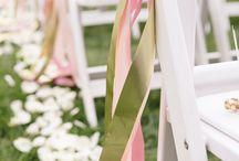 Wedding decorations /blush,white/