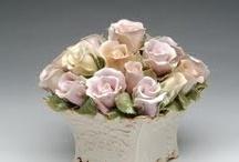 фарфор цветы