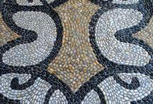 pebbles mosaics footpath