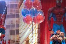balões com gas / Idéias de arranjos com balões com gás hélio.  Balões metalizados e de látex estampados ou lisos