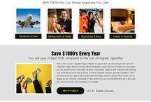 e-cigarette landing page design