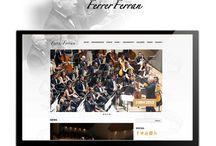 Diseño Web: Ferrer Ferran / Diseño Web para el prestigioso compositor español Ferrer Ferran: www.ferrerferran.com