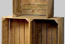 Cajas de madera decoración