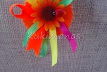 Diademas kukimonas / Complementos hechos a mano para los peques de la casa, personalizables en todos los colores, desde baberos a divertidas diademas que no pasarán desapercibidas.