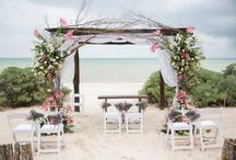 Boda playera / Beach wedding / Decoración para bodas en la playa / Beach wedding decoration  #Wedding #Boda #Bride #Novia #Yucatán