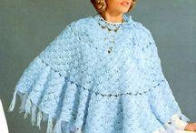 Vintage poncho crochet pattern / Vintage patterns in PDF instant download version