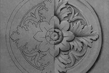 ornamentali barocco art nouveau Liberty