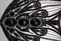 Вышивка бисером чёрная