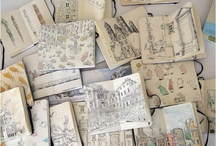 sketchbooks  and collages