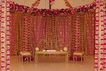 The building of a wedding mandap / We go behind the scenes as the team from Flower Power build a beautiful stage, mandap and backdrop for a wedding