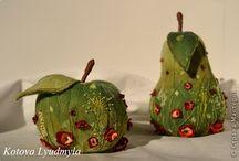 фрукты из ткани