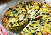 Quiches, frittatas, eggs