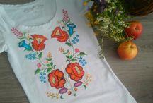 folk and flower by Zuzy / Ručne maľované špeciálnymi farbami na textil zafixované teplom.