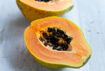 papaya / High protein, for a fruit.